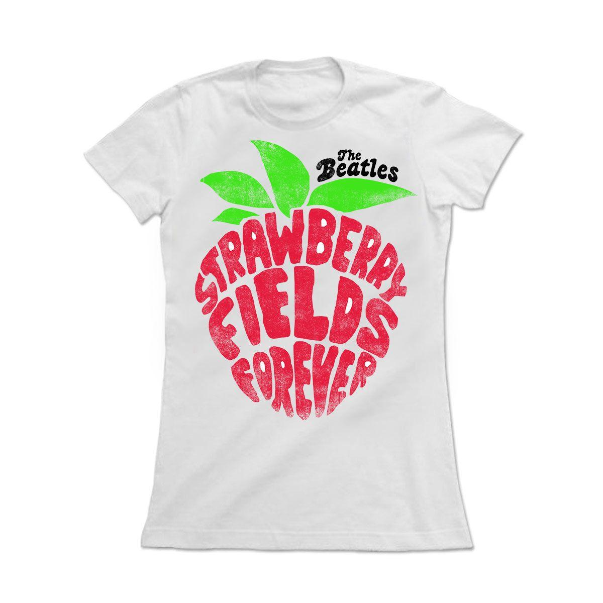 6db4be0277f Camiseta Feminina The Beatles - Strawberry Fields Forever | The ...