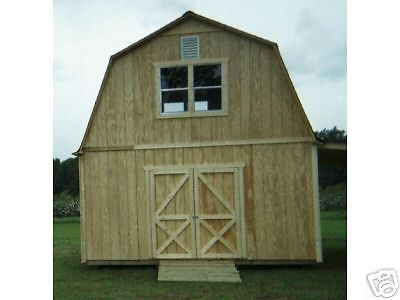 Two Story Barn Style Shed Plans 3 Sizes In Home Garden Home Improvement Building Hardware Ebay Barn Style Shed Shed Plans Guest House Shed