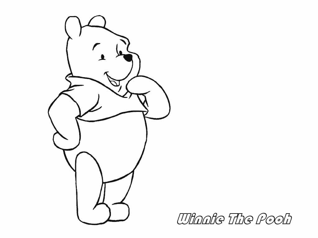 free printable winnie the pooh coloring pages - Pooh Bear Coloring Pages Birthday