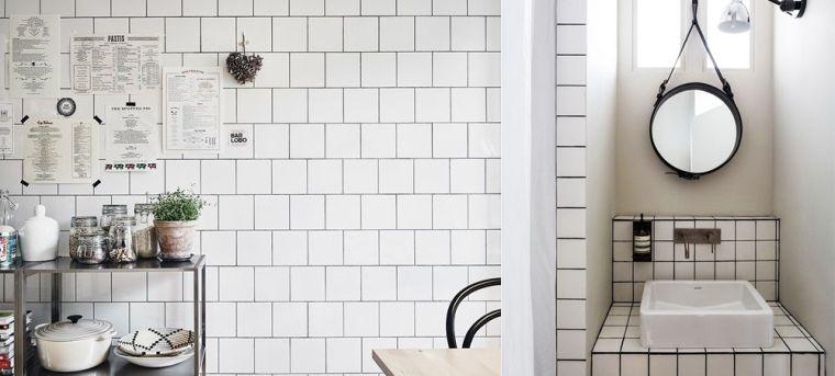 11x werken met witte tegels (liefst met zwarte voeg!) - bathroom ...