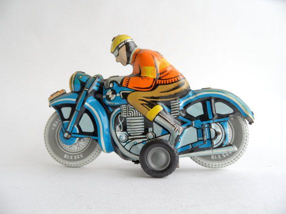 1950s Toy Motorcycle Ballon Cordatic by Lemez Rare by Ato55mic, £165.00