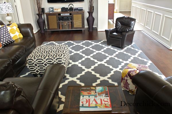 17 Best images about rug on Pinterest   Erin gates, Brown leather couches  and Stencils