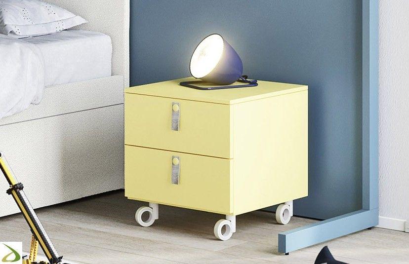 Comodino su ruote per cameretta Kiddy | Arredo Design Online ...