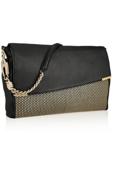0f521699dd JIMMY CHOO Ally studded textured-leather shoulder bag