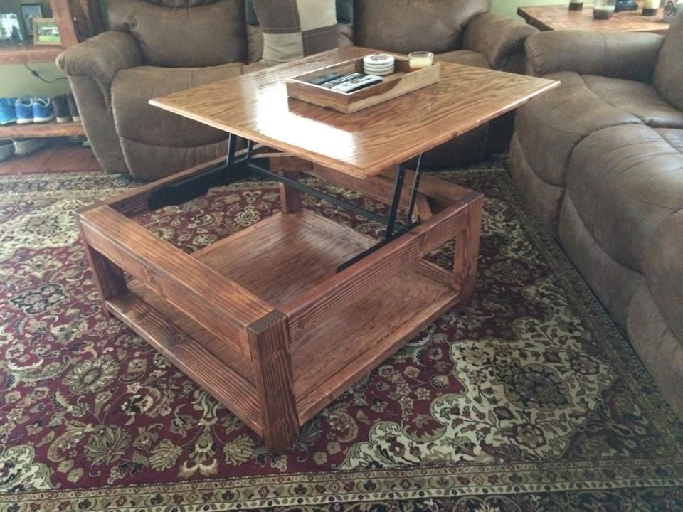 Do It Yourself Furniture Ideas: Do It Yourself Lift Top Coffee Table!