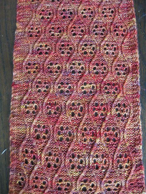 Kabob Reversible Scarf pattern by Bev Elicerio