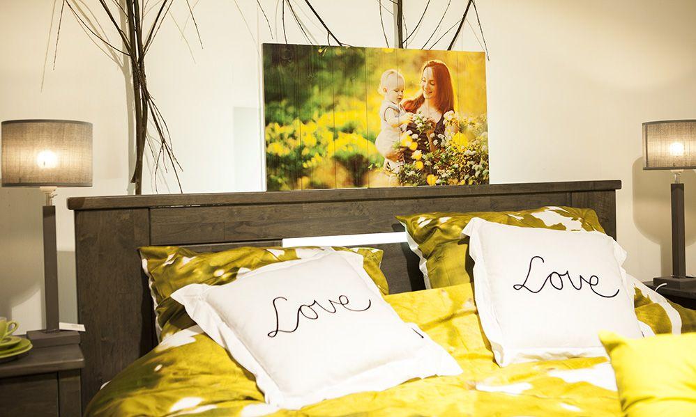 Combineer een Timberprint met het interieur van uw slaapkamer #fotoophout #whitewash