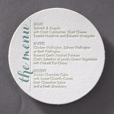 Occasions to Blog Reception Menu Cards (Menu Link -   - fresh invitation wording reception