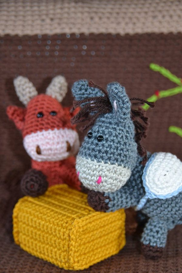 Nativity set: Donkey, ox and Camel amigurumi pattern by Woolytoons ...