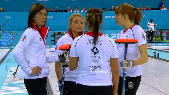 The GB women were defeated on day one of curling at the Sochi Games.  GB's women lost to Sweden, beaten 6-4 by the women's Olympic champions.