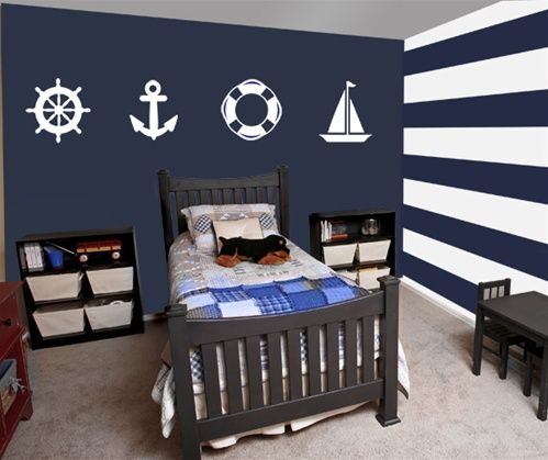 Sailor wall decals stickers habitaci n marinero for Decoracion habitacion bebe marinero