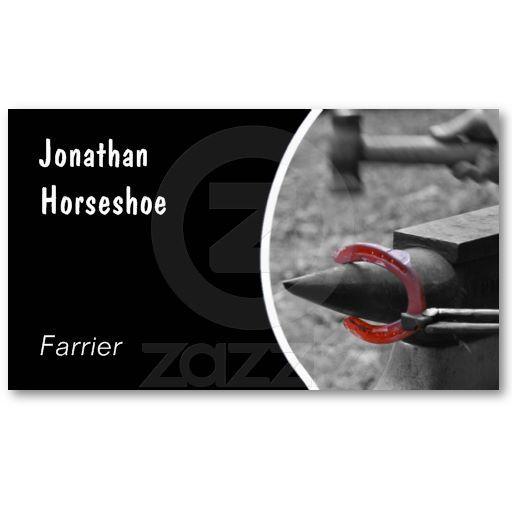 Custom Farrier Horse Business Card Zazzle Com Cards Farrier Custom