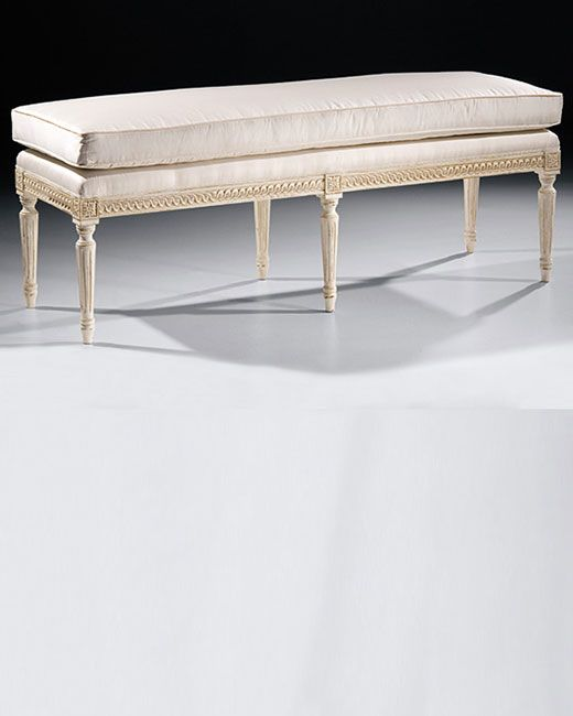 Awesome Bench Louis Xvi Antique White Bench Fab Furniture In Uwap Interior Chair Design Uwaporg