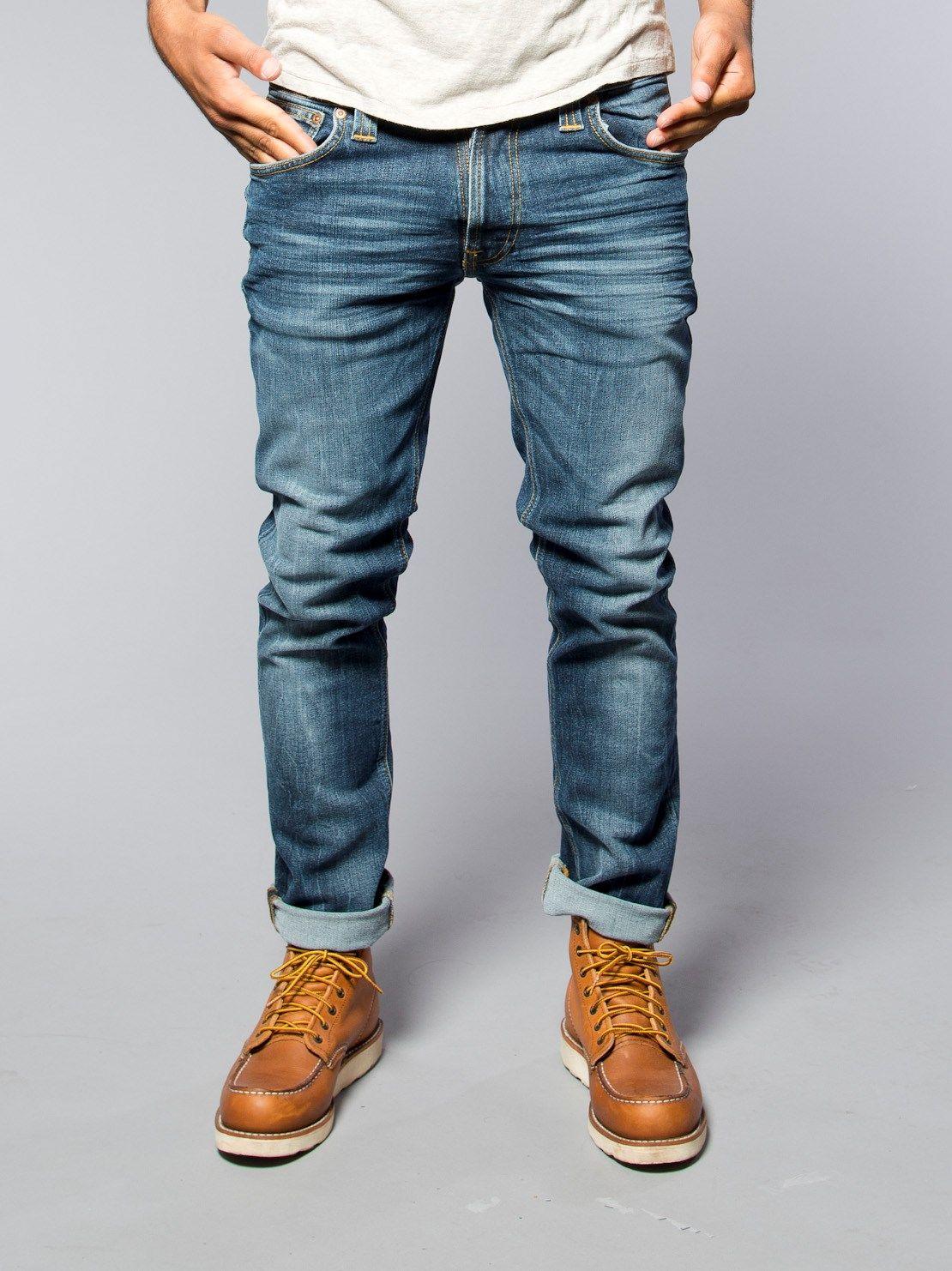 0fbec6ff00 Thin Finn Organic Midnight Worn - Nudie Jeans Co Online Shop ...