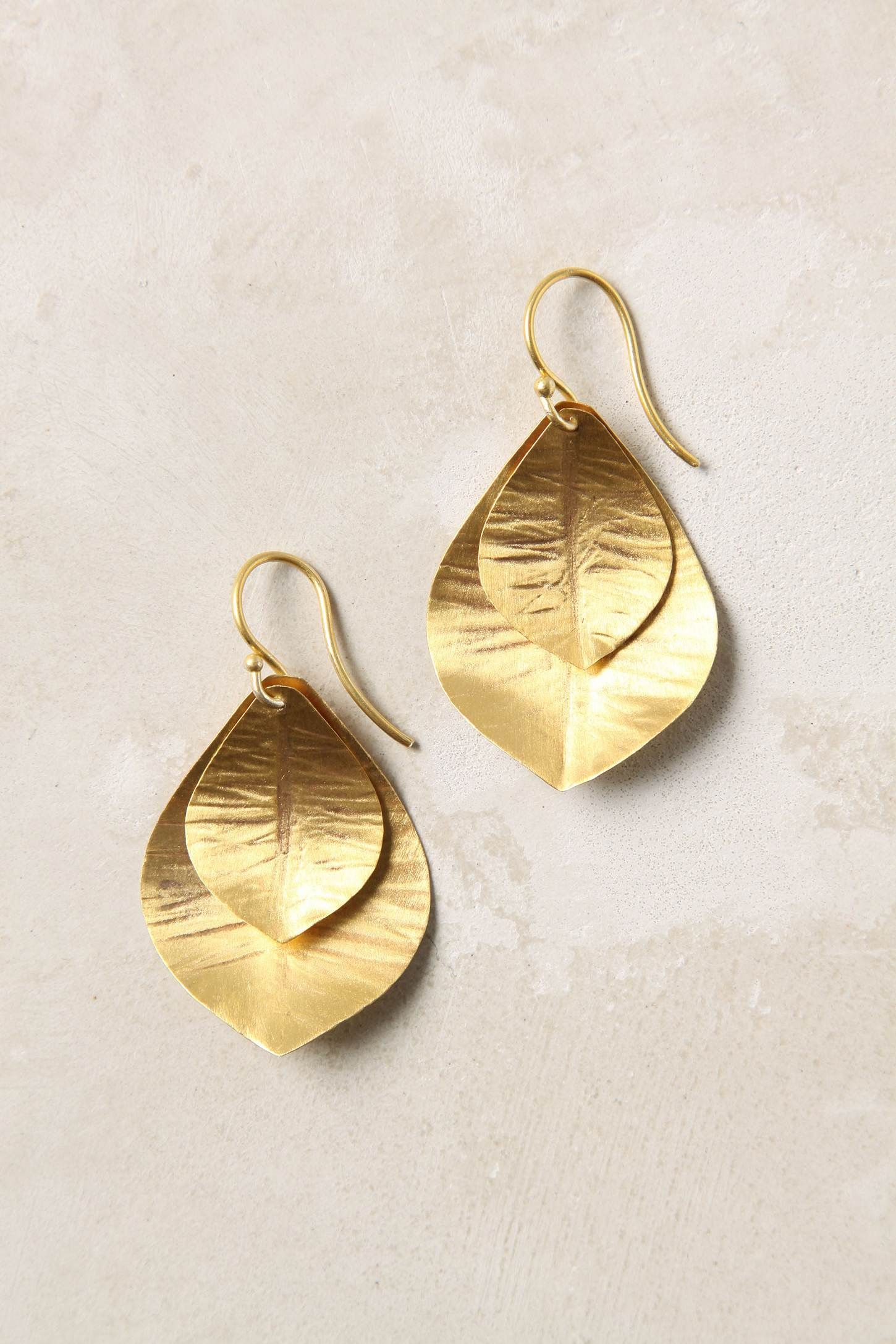 Gold leaf earrings theyure beautiful but i think the clinking would