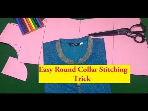 28057c952e85 Best ever Round collar kurti tutorial ,china collar,kurti cutting explained  DIY part1 Hindi - YouTube