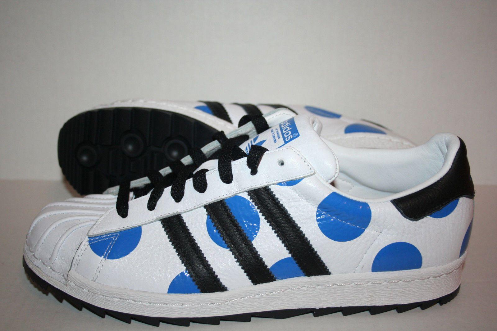 fdb6f326ef99 Adidas Jeremy Scott Superstar Dots White Blue Black B26039  179.00 ...