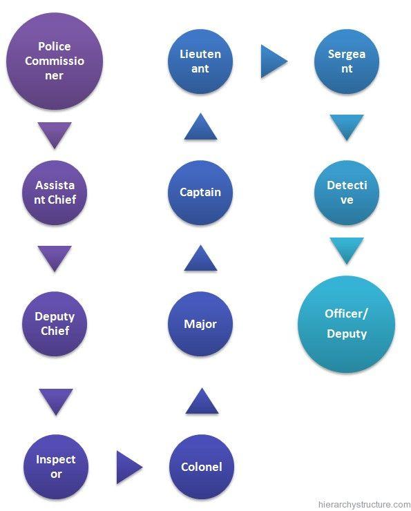American Police Hierarchy Hierarchy Police Army Life