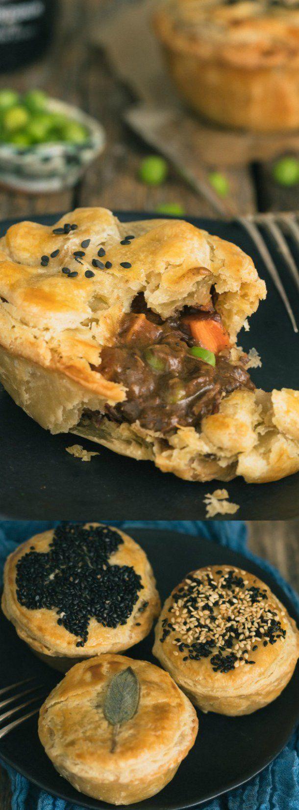 Guinness Irish Beef Stew Mini Pot Pies | Food, Mini pot ...