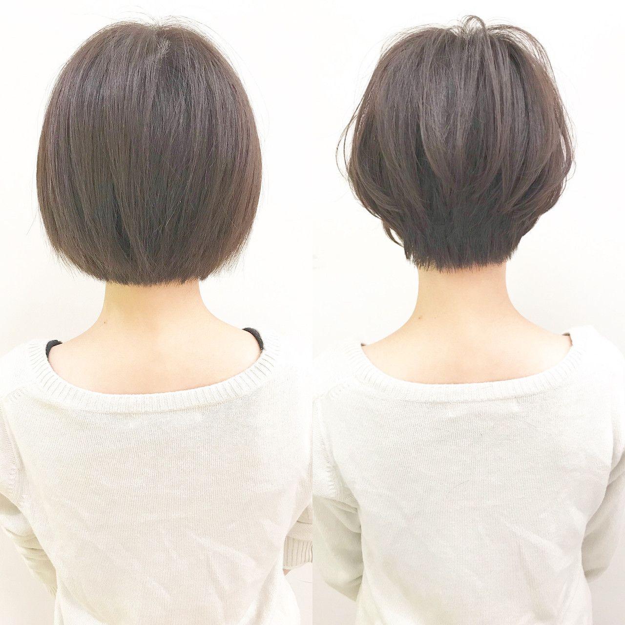 ナチュラル アウトドア ショート 黒髪×『send by HAIR』×ショートヘア美容師 #ナカイヒ
