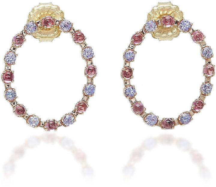 Marlo Laz Full Circle 14K Gold Earrings LDClOS