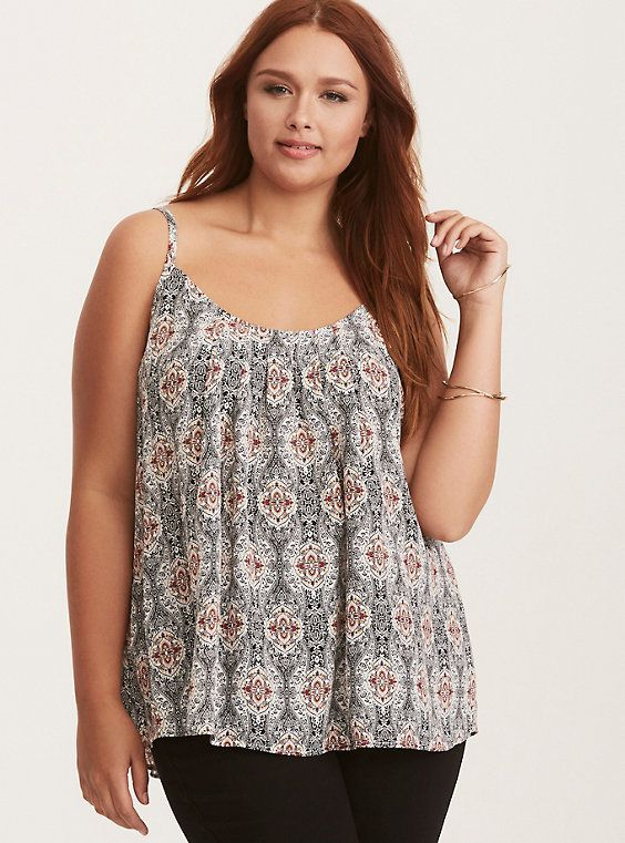 b9f350aceb6 Paisley Print Crossback Pleated Cami Top