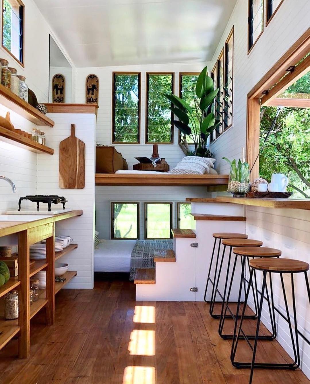 Omg I Just Found My Dream Home This Tiny House From Nbsp Nbsp Littlebyronco Nbsp Nbs Tiny House Living Room Tiny House Interior Design Tiny House Decor
