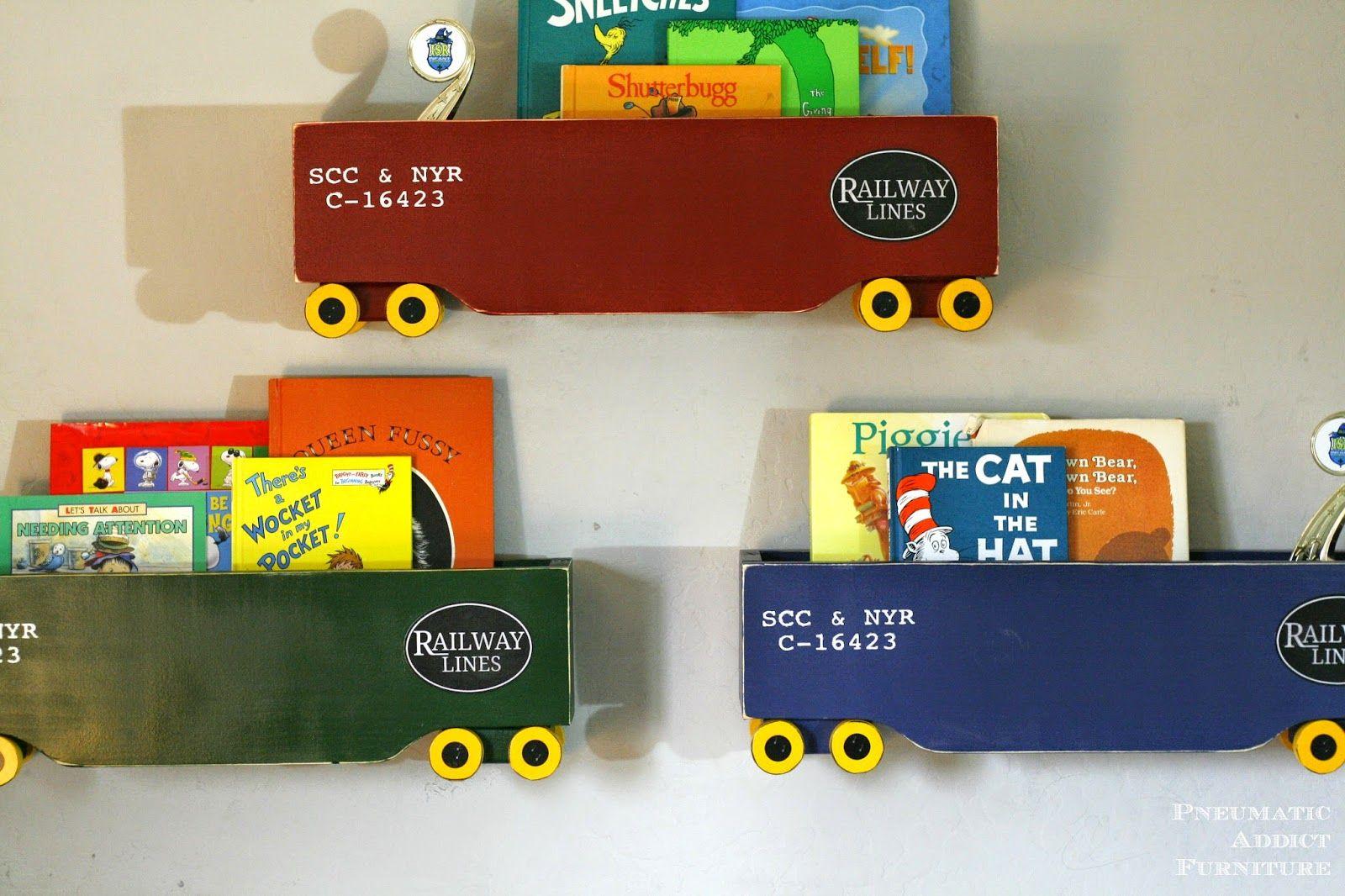 Box Train Bookshelf Knock Off Pottery Barn Kids Boxing