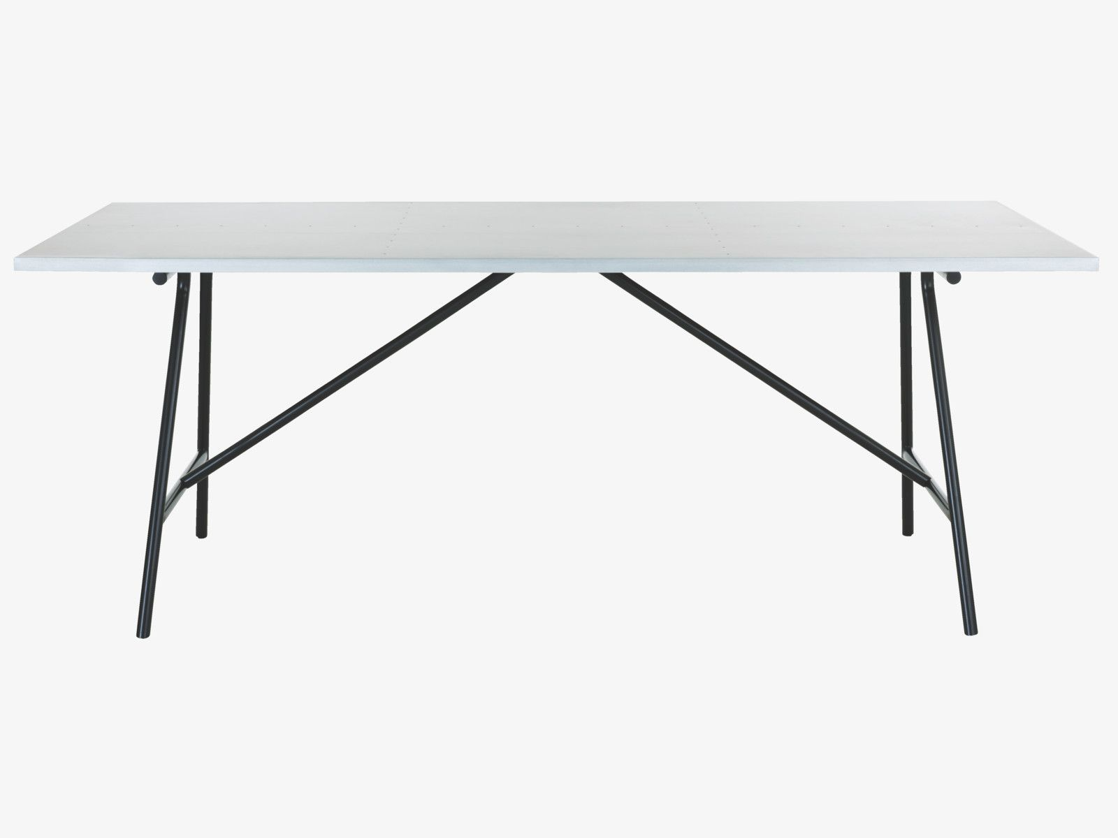 Yeoman 8 Seater Zinc Topped Dining Table