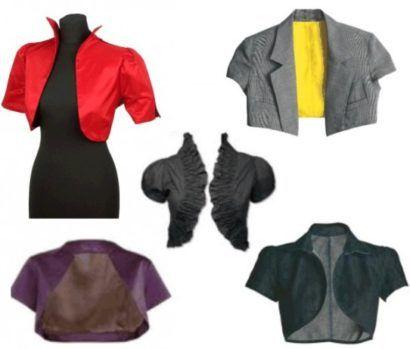 diferentes modelos de boleros femininos