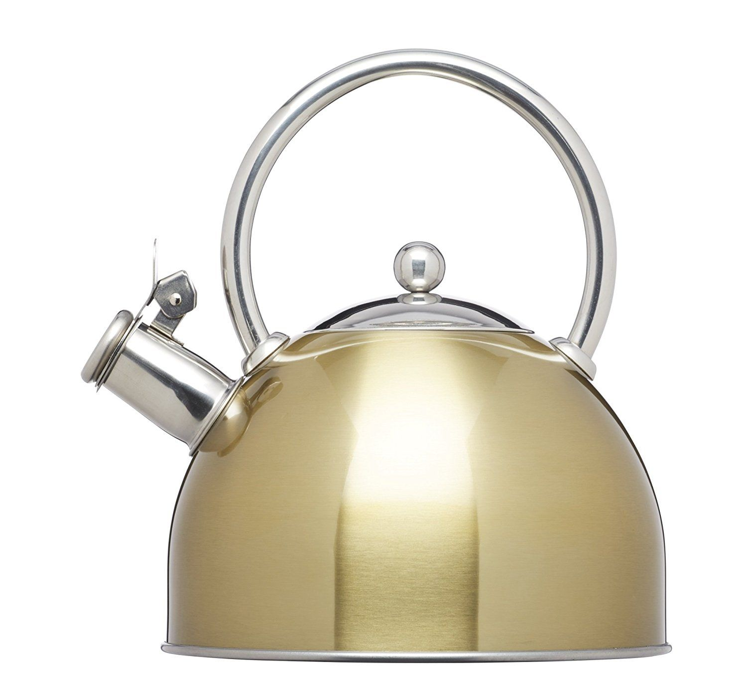Kitchencraft Le Xpress Induction Safe 1 8l Stovetop Whistling Kettle In Br Finish Kitchen Dining