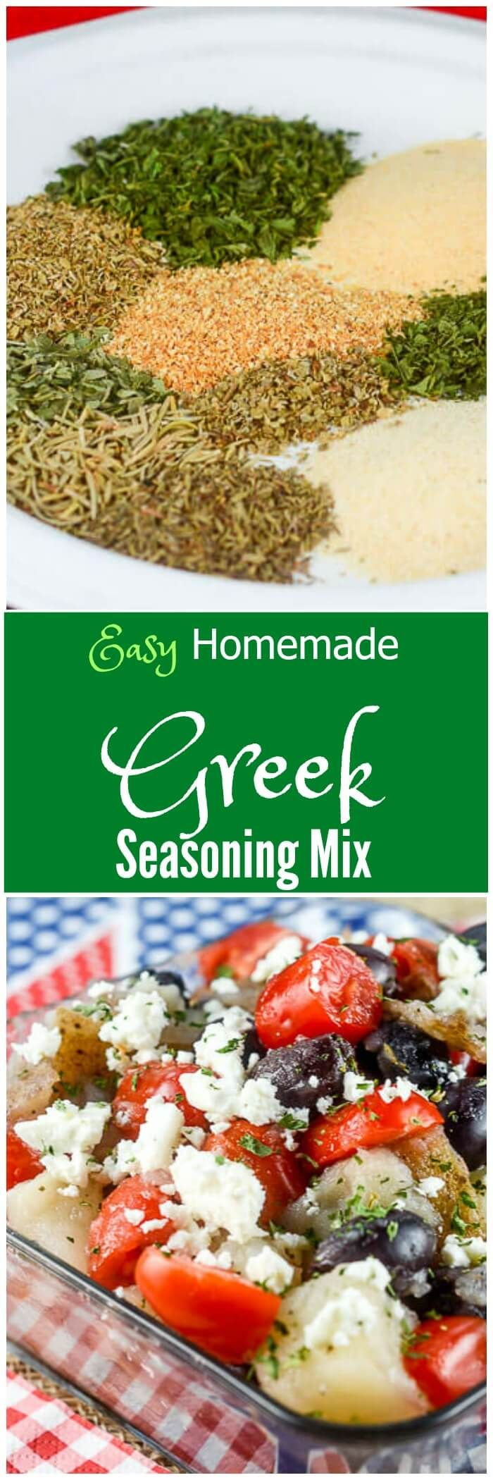 This Easy Homemade Greek Seasoning Mix recipeis a budget friendly option to add bold Greek flavors to your favorite dishes or recipes. via @flavormosaic