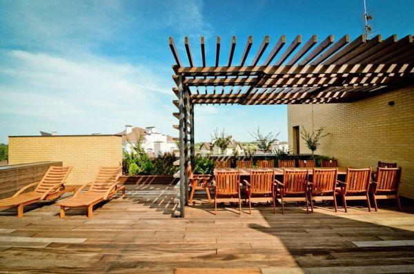 berdachte terrasse 50 top ideen f r terrassen berdachung pinterest. Black Bedroom Furniture Sets. Home Design Ideas