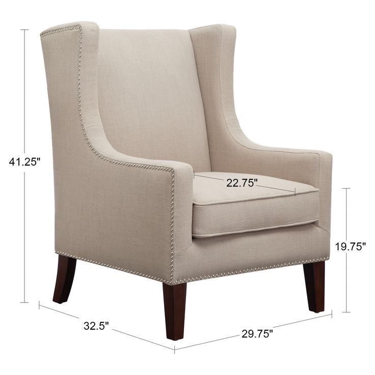 Admirable Colette Wing Chair Linen Accent Chairs Surround Yourself In Ocoug Best Dining Table And Chair Ideas Images Ocougorg