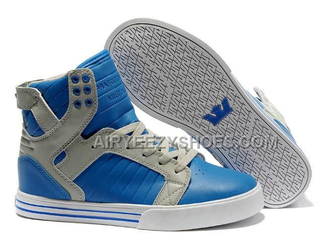 Supra Skytop Blue Grey Men's Shoes, Price: $61.00 - Air Yeezy Shoes