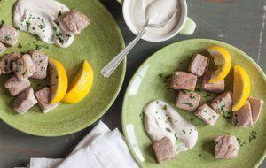 Tuna Bites with Tahini-Yogurt Dipping Sauce | Whole Foods Market