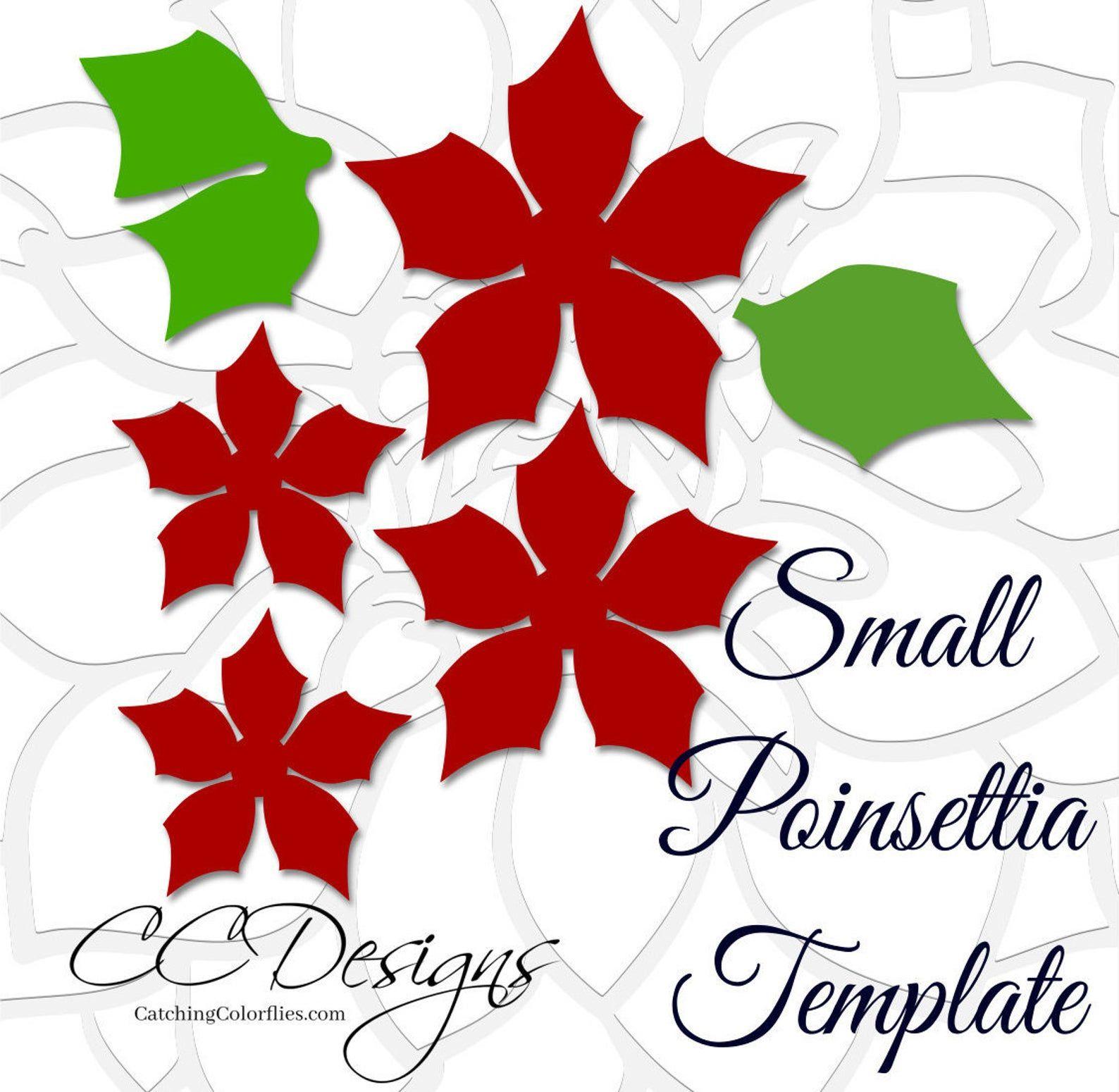 Small Paper Flower PDF Templates Christmas Poinsettia