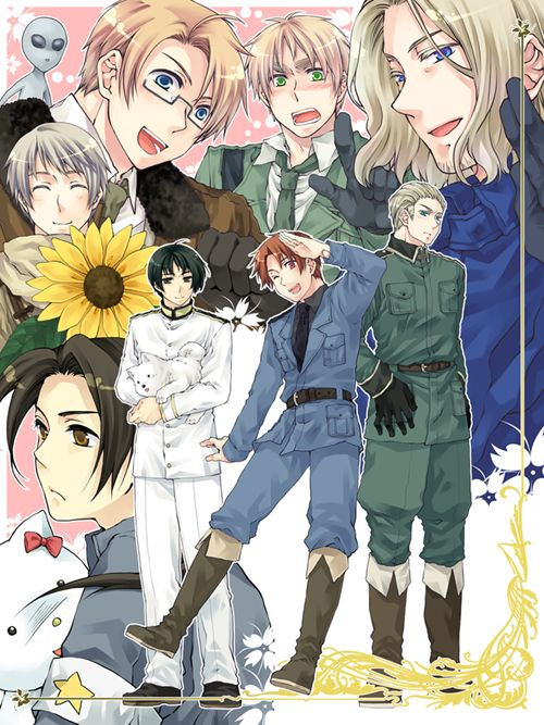おっ - Hetalia - Russia / America / China / Japan / England / Italy / Germany / France  (+ Tony & Pochi)