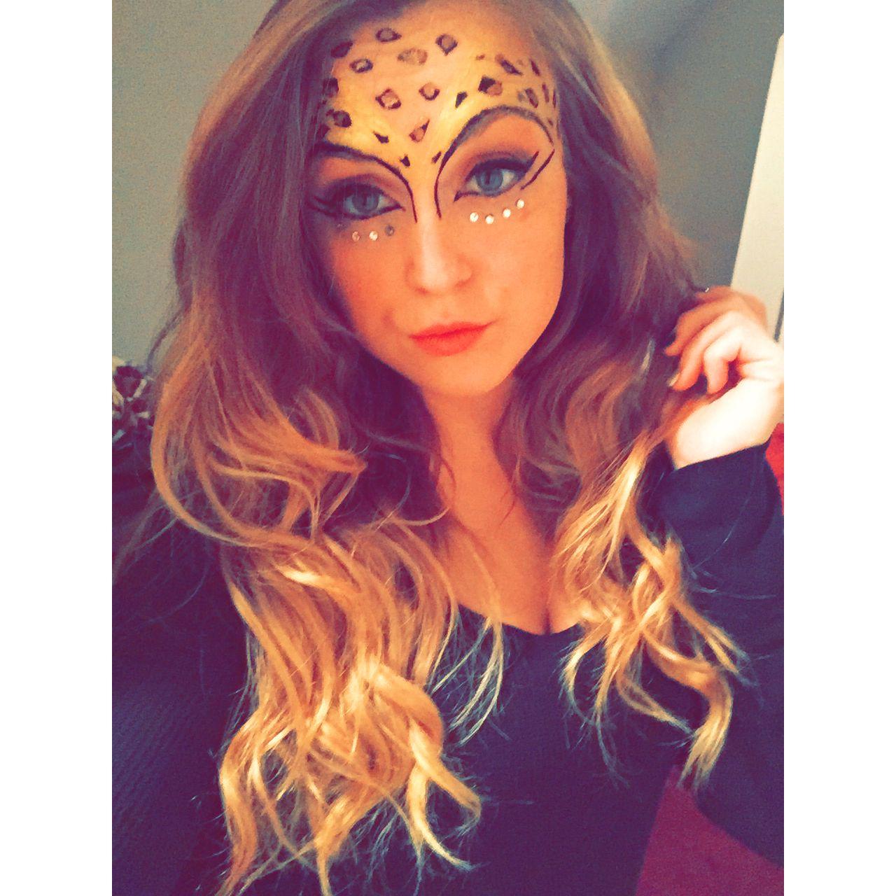 My giraffe makeup from Halloween, love it so much! #halloween ...