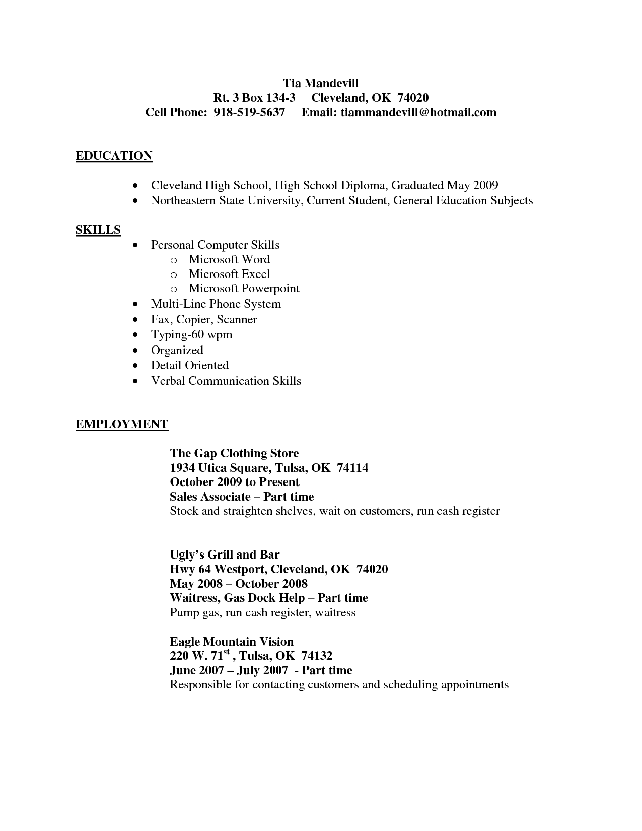 Resume Skills Example Retail Sales Job Resume Example Manager Samples For Free Sample