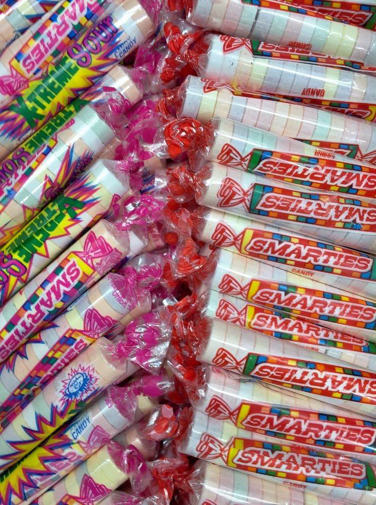 Around since the late 1940s, Smarties are a pastel,tablet
