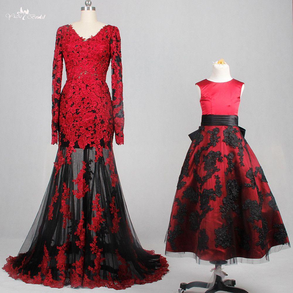 Long sleeve black wedding dresses  Cheap red black wedding dress Buy Quality wedding dress directly