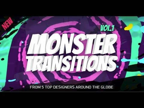 MONSTER Transitions vol.1 | Free After Effects template | After ...