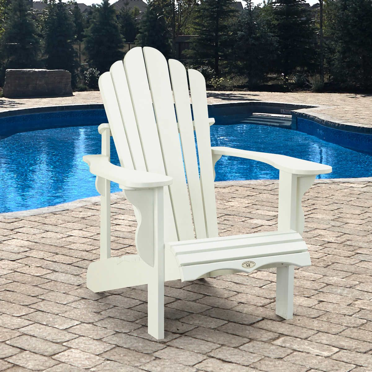 Adirondack chair by leisure line adirondack chair white
