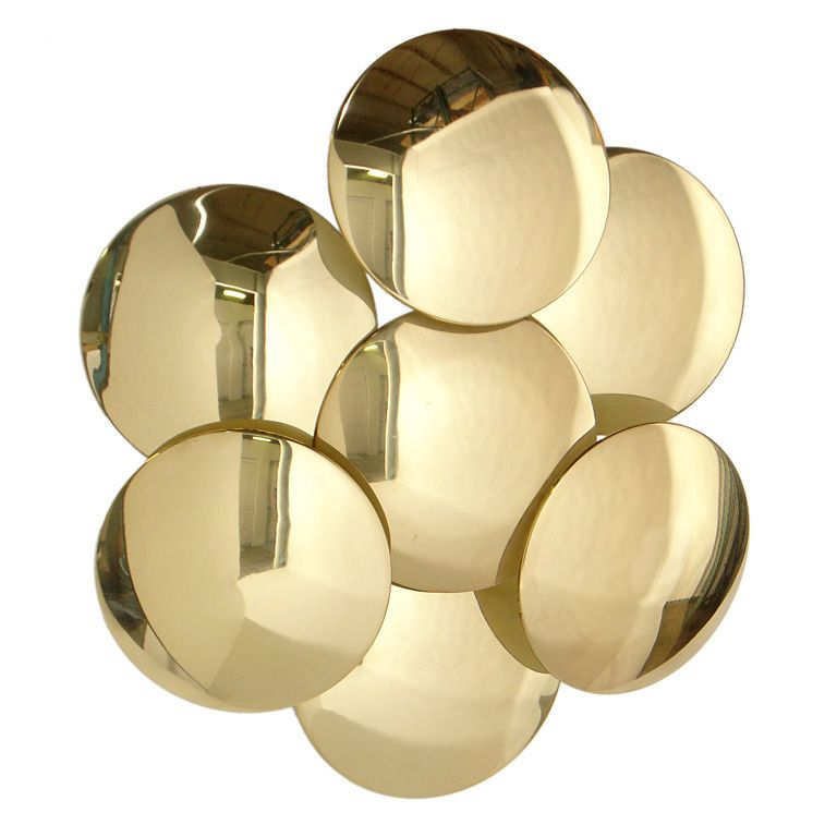 Sculptural Brass Wall Sconce Or Applique By Reggiani