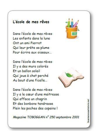 Poesie Mon Ecole Est Plein D Images : poesie, ecole, plein, images, Épinglé, COMPTINES
