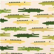 Tela animales marfil cocodrilo Urban Zoologie de Robert Kaufman