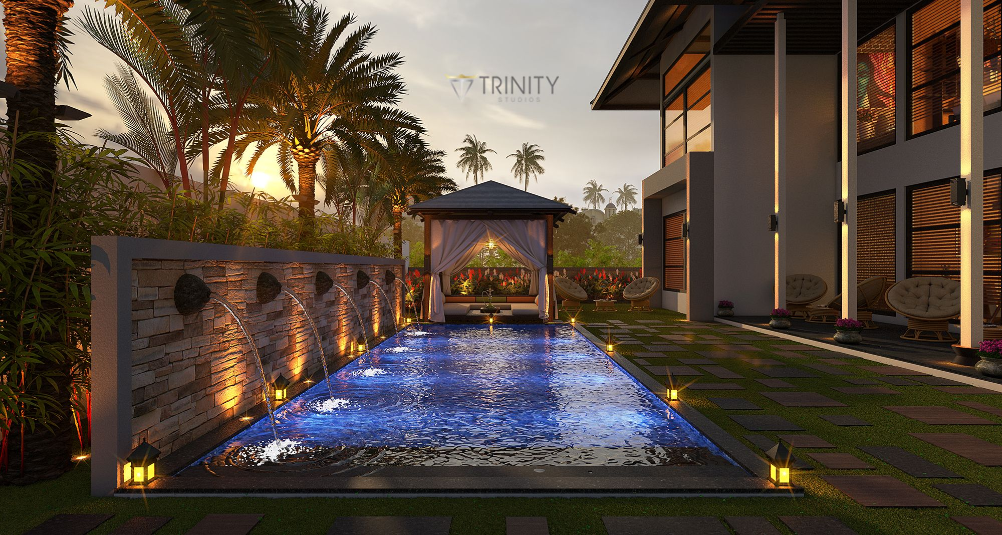 Swimming_Pool view_Bali_Theme