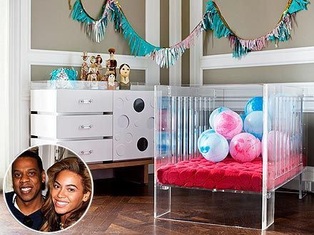 NurseryWorks' lucite Vetro crib ($3500) ... Jay-Z and Beyonce got one for Blue Ivy!