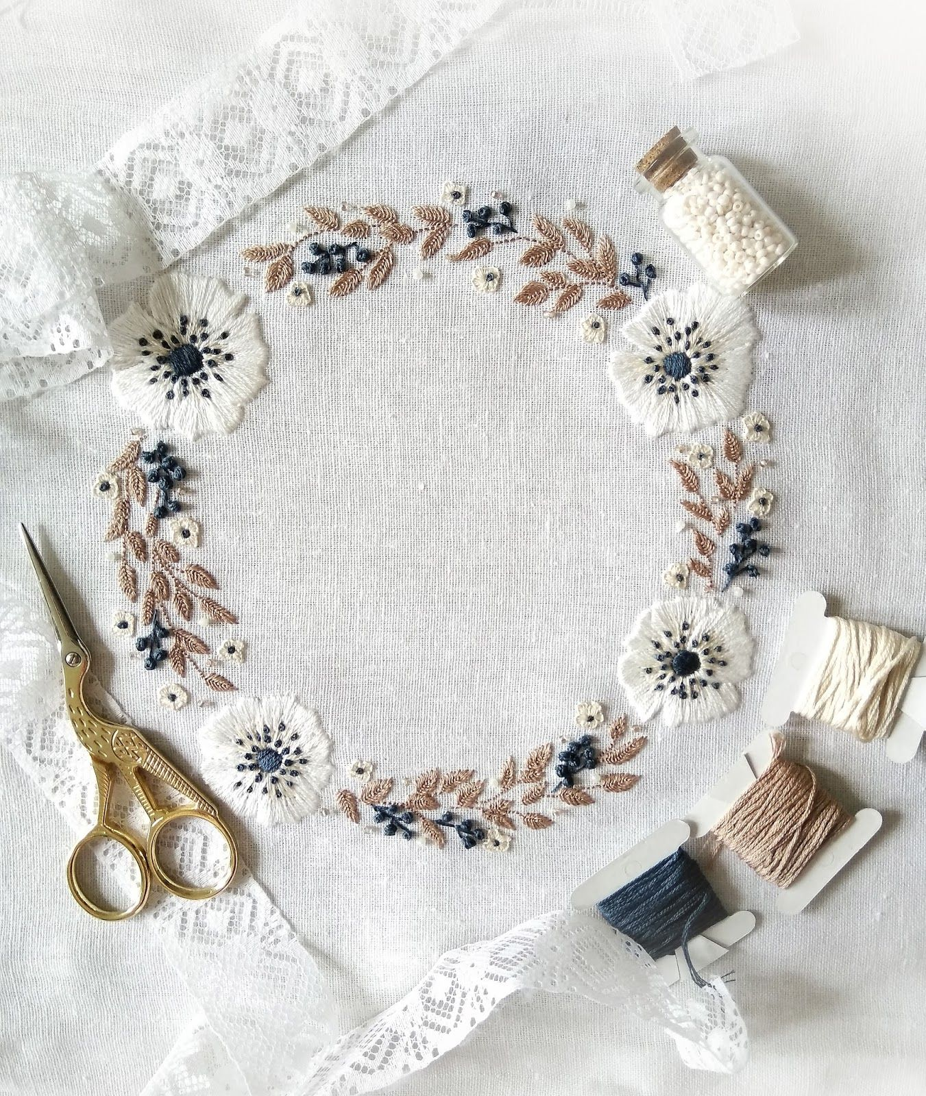 Quot winter joy a lovely floral wreath with white anemones